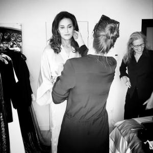 Prepping for Vanity Fair photo shoot. Courtesy Glamour magazine.